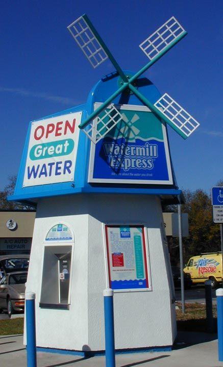 despachador automático de agua kiosco